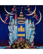 Meloniski da Villacidro, Concerto delle 4 lune, tecnica mista su tela, 55x55 cm
