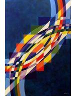 Filippo Scimeca, Il sorriso del tempo, olio e acrilico su tela, 100x70 cm