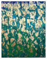Francesco Cerutti, Benedizioni e pioggia di luce su Gaia, il pianeta Terra, tecnica mista, 80x100 cm