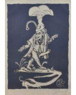 Salvador Dalì, Pantagruel, litografia, 76x56 cm tratta da Les Songs Drolatiques de Pantagruel, 1973