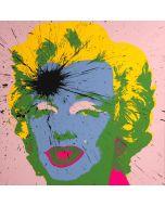 Julian T, Marilyn, acrilico su serigrafia, 91x91 cm, 2015