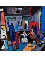 Carlo Massimo Franchi, Las meninas fra le aggregazioni e il cubismo, olio su tela, 50x50 cm