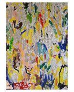 Francesco Cerutti, Om Lokah Samastah Sukhino Bhavantu, tecnica mista, 50x70 cm