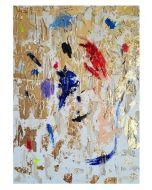 Francesco Cerutti, Percorro una strada la cui meta è la luce, tecnica mista, 50x70 cm