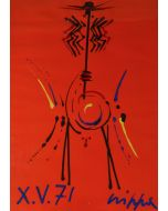 Roberto Crippa, Totem, olio su cartoncino su compensato, 70x50 cm, 1971