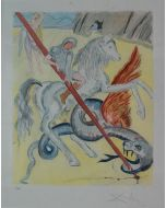 Salvador Dalì, The lance of chivalry, litografia, 74x60 cm, 1978/79