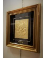 Salvador Dalì, Autoritratto,  bassorilievo, 25x29cm, Prova d'autore