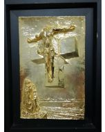 Salvador Dalì, Corpus Hipercubus, bassorilievo, 23,5x36 cm (36,5x49 cm con cornice)