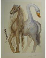 Salvador Dalì, Le Chimere D'Horace, litografia, 36x56 cm tratta da Les Chevaux de Dalì, 1970-72