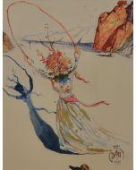Salvador Dalì, Daphne I, litografia su carta Japan, 74,8x54,5 cm, tratta da Retrospettive II, 1979/80