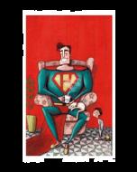 Giulia Del Mastio, Superpapà, Grafica Fine Art, 30x45 cm