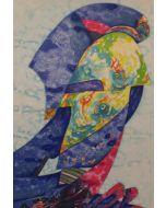 Gianni Dova, Nido sulle rocce, serigrafia, 50x70 cm