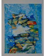Gianni Dova, Gatti, serigrafia, 69x90 cm
