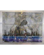 Giulio Ciampi, Manhattan, acrilico su vetro e acciaio, 75x100 cm, 2018