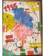 Andrew Tosh, Duffy e Porky, acrilico su carta, 96x66 cm, 2017