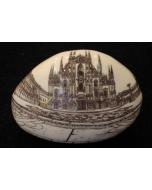 Franchina Tresoldi, Duomo di Milano, ciottolo in ceramica decorata, 12x12 cm