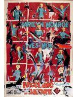 """Mimmo Rotella, Facciamo l'amore, serigrafia e décollage, 33x45 cm, tratta dal libro """"Bellezza eterna"""", 2005"""