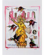 Yux, Flyline Milano 15, retouchè, 46x32 cm