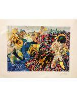 Salvador Dalì, La peche au thon, serigrafia, 74x54 cm, 1968