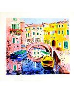 Athos Faccincani, Venezia, serigrafia, 110x100 cm