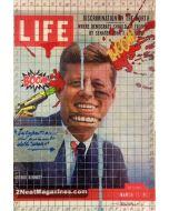 Enrico Pambianchi, JFK, collage, acrilico, olio, matite e resine su tavola, 30x20 cm