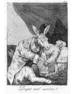Francisco Goya, De que mal morirà?, acquaforte e acquatinta, 31x23 cm