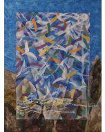 Milo, Gabbiani, acrilico su tela, 60x80 cm