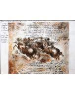 Giancarlo Prandelli, La Battaglia di Anghiari, matita e inchiostro su carta, 29.5x21cm
