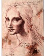 Giancarlo Prandelli, Studio per testa di donna, matita su carta, 29.5x20.5cm