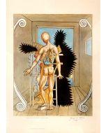 Giorgio De Chirico, Il rimorso di Oreste, poster firmato, 70x50 cm