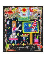 """Francesco Musante, L'insegnante, serigrafia materica, 23x20 cm, tratta dalla serie """"I Mestieri"""""""