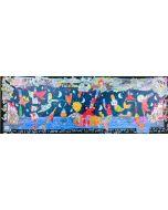 Francesco Musante, L'amore è salire su un treno senza conoscere la destinazione, serigrafia materica, 35x100 cm