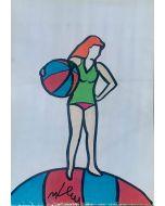 Marco Lodola, Pin up, disegno su carta, 30x42 cm