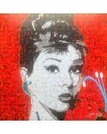 Maria Murgia, Omaggio a Audrey Hepburn, fotomosaico digitale, 50x50 cm