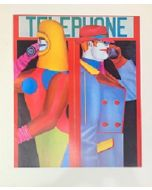 Richard Lindner, Telephone, Poster, 64,5x77 cm