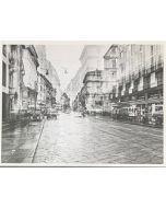 Gaetano Alfano, Via Manzoni, fotografia su carta, 55,5x42 cm