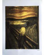 Edvard Munch, L'urlo, serigrafia, 50x75 cm, 163/200