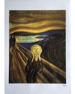 Edvard Munch, L'urlo, Serigrafia, 50x75 cm, 183/200