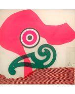 Enrico Baj, Senza titolo, collage su carta, 36,5x35,5 cm