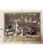 Enrico Pambianchi, Interno giapponese, collage, disegno e strappo su cartoncino, 36x50,5 cm