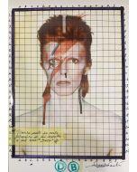 Enrico Pambianchi, DB, collage, acrilico, matite, gessetti e resine su carta fotografica, 21x29,7 cm