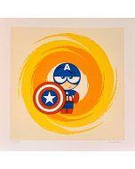 Paolo Gallinaro, I'm not Captain America, Grafica Fine Art, 30x30 cm