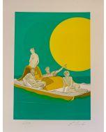 Lillo Ciaola, Pedalò, Grafica Fine Art, 30x40 cm