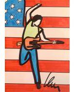 Marco Lodola, The Boss (Bruce Springsteen), Disegno su carta, 42x30 cm