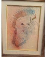 Ernesto Treccani, Chiara, mista su cartoncino, 25x35 cm