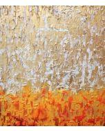 Francesco Cerutti, Raggio oro rubino, tecnica mista, 70x80 cm