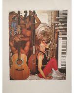 Dovilio Brero, La musica, litografia, 83x70 cm