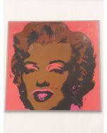 Marilyn Monroe, stampa su pannello, 26x26 cm (rosa)