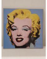 Marilyn Monroe, stampa su pannello, 26x26 cm (azzurro)