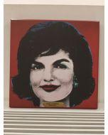Jackie Kennedy (Andy Warhol), stampa su pannello, 24x24 cm